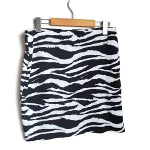 NO BRAND | Zebra print mini skirt